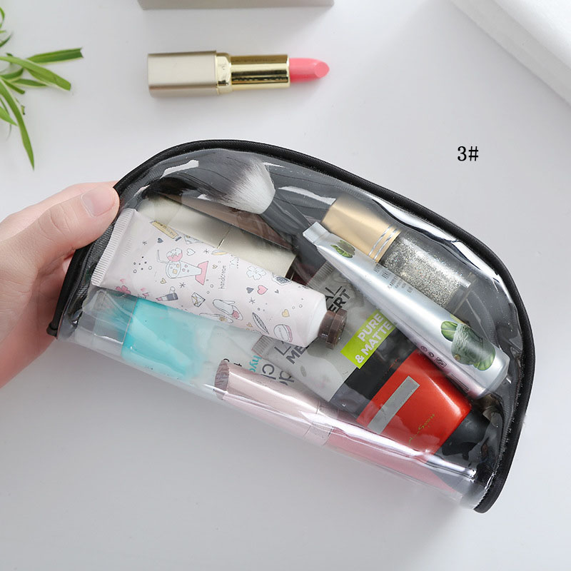 Hot sell Portable Travel Makeup Cases For Women Transparent PVC Waterproof Organizer Cosmetic Pouch Beauty Make up container