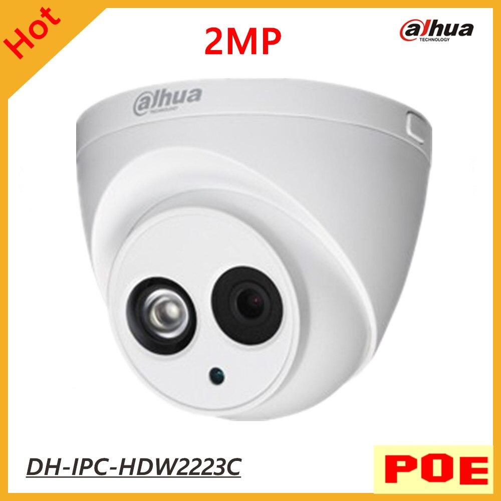 POE Camera Dahua DH-IPC-HDW2223C IR HD 1080P Security 2MP H.264 IP Camera IP67 Surveillance Network Dome Camera Support Onvif free shipping poe 2 0mp onvif h 264 hd surveillance camera 22 ir pan tilt waterproof dome security ip network cctv camera 1080p