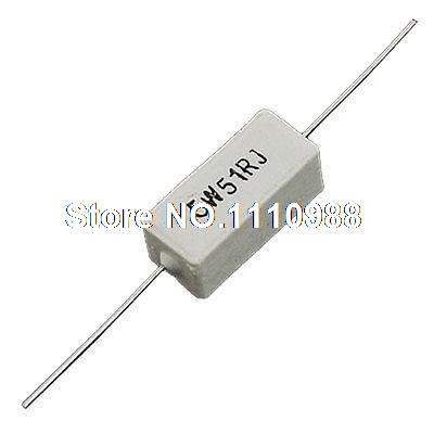 5W Watt 51 Ohm 5% Wire Wound Ceramic Cement Resistor 10 Pcs бинокль levenhuk бинокль karma pro 16x42 67701 lev67701