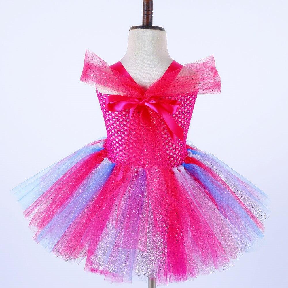 Girl Kid It/' My 2//3//4//5//6//7 Birthday Outfits Trolls Poppy Costume 2Pcs Party Set