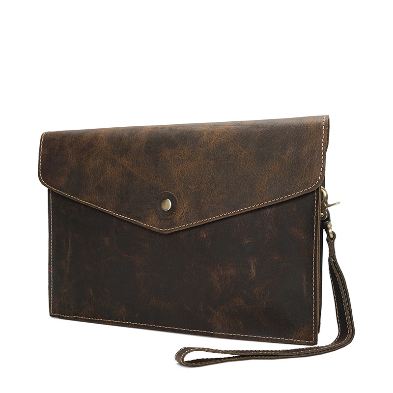 Retro Style Handbag Men's Genuine Leather Crossbody Shoulder Sling Bag Casual Tote Phone Card Money Pouch For Man Male YD02133