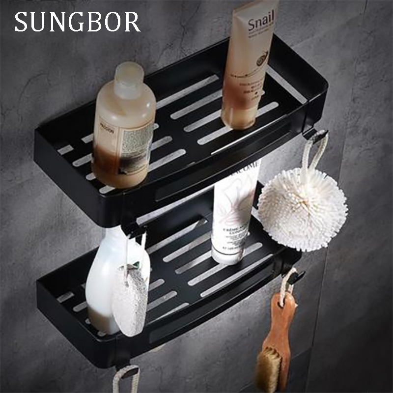 aliexpresscom buy stainless steel 304 black bathroom corner shelf shower room rack for body wash bottle toilet corner table shelf holder hl 3669h from - Dusche Halter Duschgel