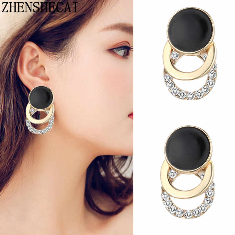 New Fashion Jewelry Triangle Geometric Stud Earring For Women Gift Girls Brincos Small Cute Earring Party Wedding