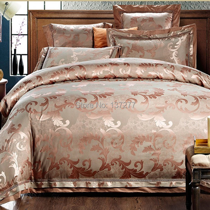 Wonderland New Gold Pink Embroidery Stain Jacquard Weave European