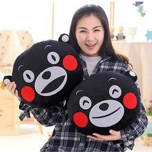 mascot Kumamon Bear adorable plush doll pillow Adorable Cartoon Black Bear Head Soft Stuffed Plush Dolls For Best Gifts