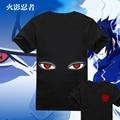 Naruto Sharingan Anime Print T-shirt Shirt Uchiha Tops Pastel Asian Taste Sleeve