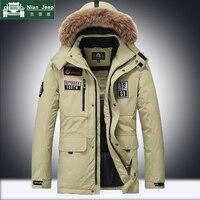 Брендовая зимняя куртка Для мужчин толстый теплый меховой воротник ветровка Для мужчин s парки высокое качество Multi карман верхней одежды Д