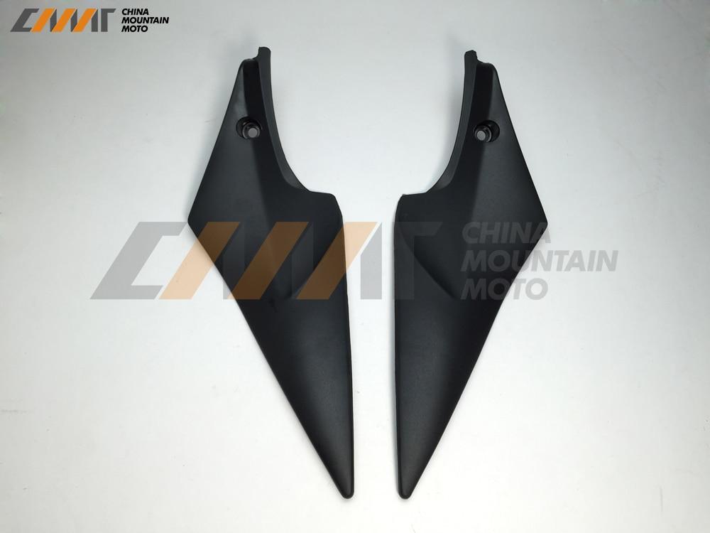 For Suzuki GSXR 600 GSXR750 2006 2007 Black Tank Side Cover Panel Fairing 2pcs