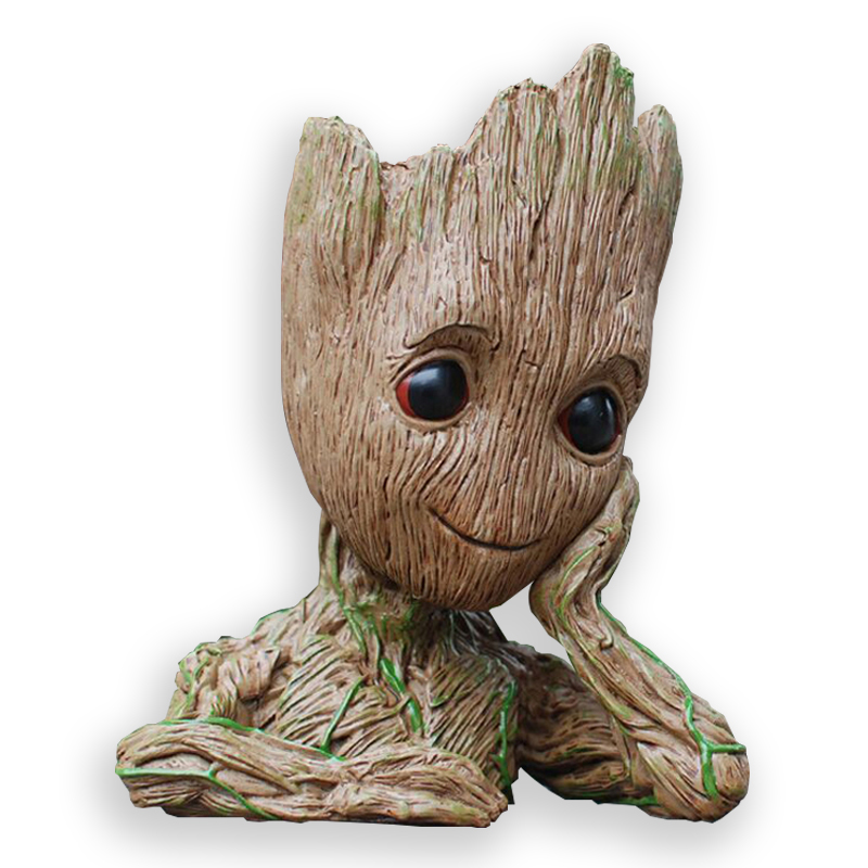 Baby Flowerpot Guardians of The Galaxy Action Figures Model Toys Tree Man Baby Cute Pen Pot Flower Pot Gifts Home Decoration цена