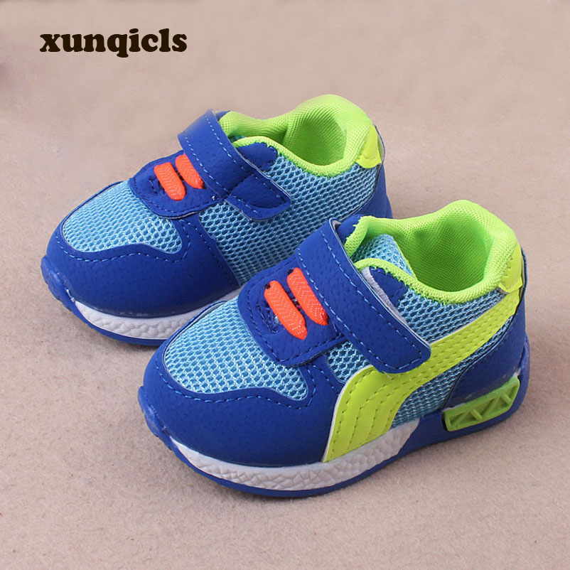 xunqicls Baby Sneakers Spring Autumn Boys and Girls Soft Bottom Crib Shoes Kids Anti-slip Sports Shoes