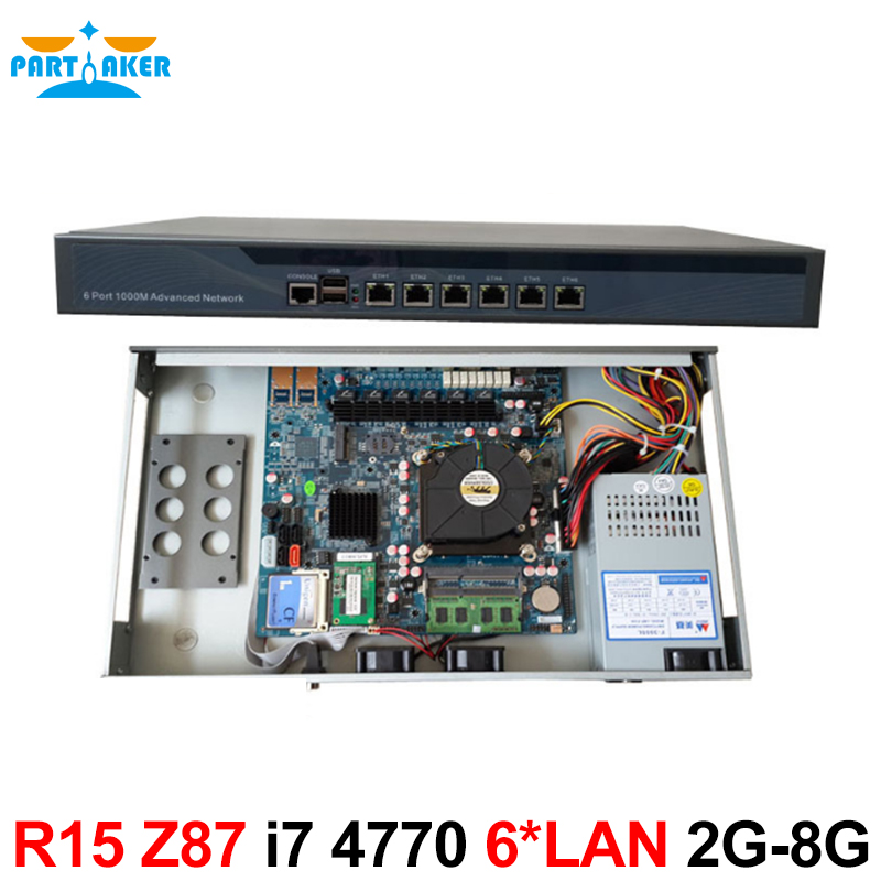 Desktops server 1U Firewall pfsense 1U firewall router with 6 Gigabit LAN Intel Quad Core i7 4770 3.9Ghz Wayos PFSense ROS стоимость