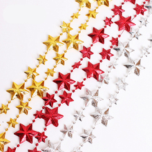 2017 new fashion creative Christmas decorations 2.7 meters gold red star bead chain christmas tree decorations for home