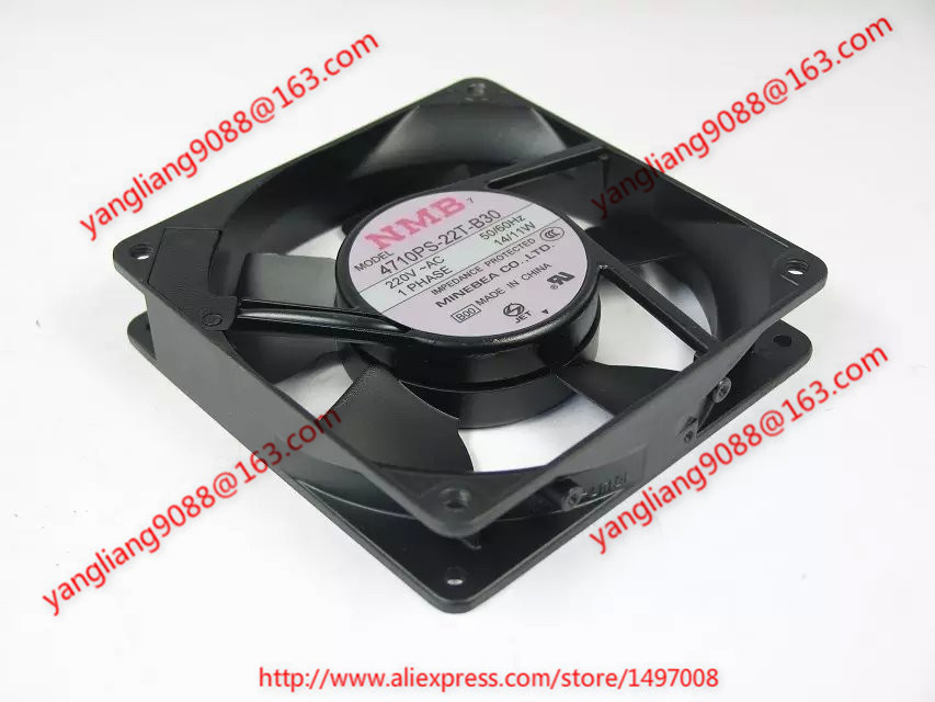 NMB-MAT 4710PS-22T-B30, B00 AC 220V 14/11W 2-piece 120x120x25mm Server Square fan nmb mat 5915pc 12t b30 a00 dc 115v 35a 2 piece 150x172x38mm server round fan