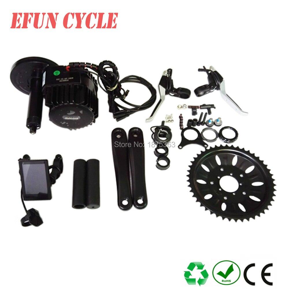 Бесплатная доставка bbshd 48 В 1000 Вт Ebike Электрический велосипед Двигатель bafang середине Drive Conversion Kit изделие ЖК дисплей дисплей