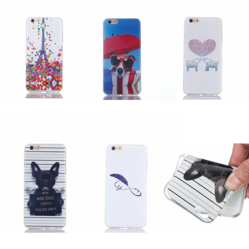 <font><b>New</b></font>!soft TPU phone case <font><b>glasses</b></font> Dogs Elephant feather balloon The Eiffel Tower Star <font><b>for</b></font> <font><b>iPhone</b></font> <font><b>5</b></font> 5S 5C SE <font><b>6</b></font> 6S 7 Plus D005
