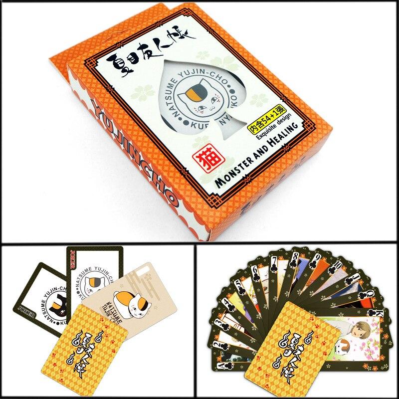 Cartoon poker YUJINCHO ATTACK ON TITAN TOKYO GHOUL Poker Wanted Ninja Black Butler Conan LOL Anime Comics Playing Cards Poker