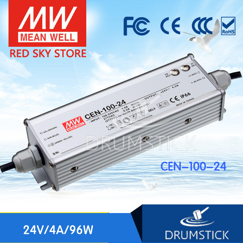 купить Selling Hot MEAN WELL CEN-100-24 24V 4A meanwell CEN-100 24V 96W Single Output LED Power Supply по цене 3007.53 рублей