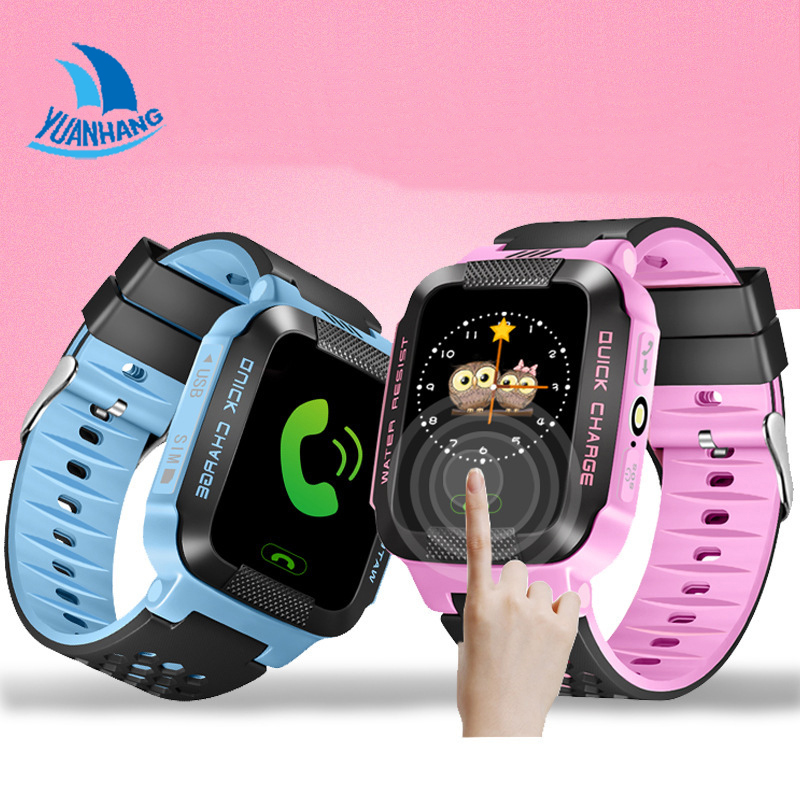 1 44 Touch Screen Smart Safe Real time Tracker Location SOS Call Remote Monitor Flashlight Watch