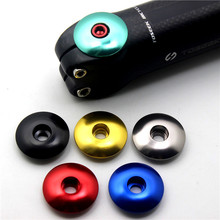 CHOOSE 1 1/8  Road Bicycle Headset Top Cap Aluminum 7075 CNC Mtb With Bolts Bike Stem Accessory