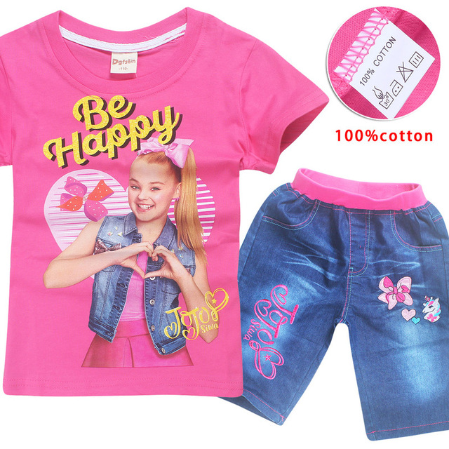 Jojo Siwa Short Jeans Tops Cotton Tshirt Clothing