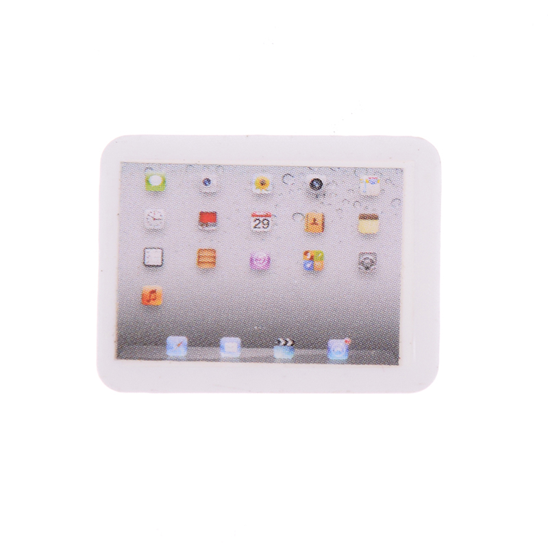 1/12 Dollhouse Miniature Accessories Mini Computer Model Simulation Tablet PC Toys Doll House Decoration Furniture Toys-3