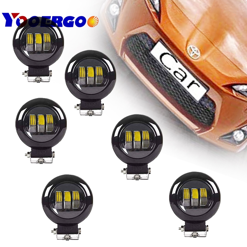 6PCS 30W Spotlight Fog Light Off Road Vehicles Square Led Work Lamp Car Styling Lamp For SUV Jeep ATV
