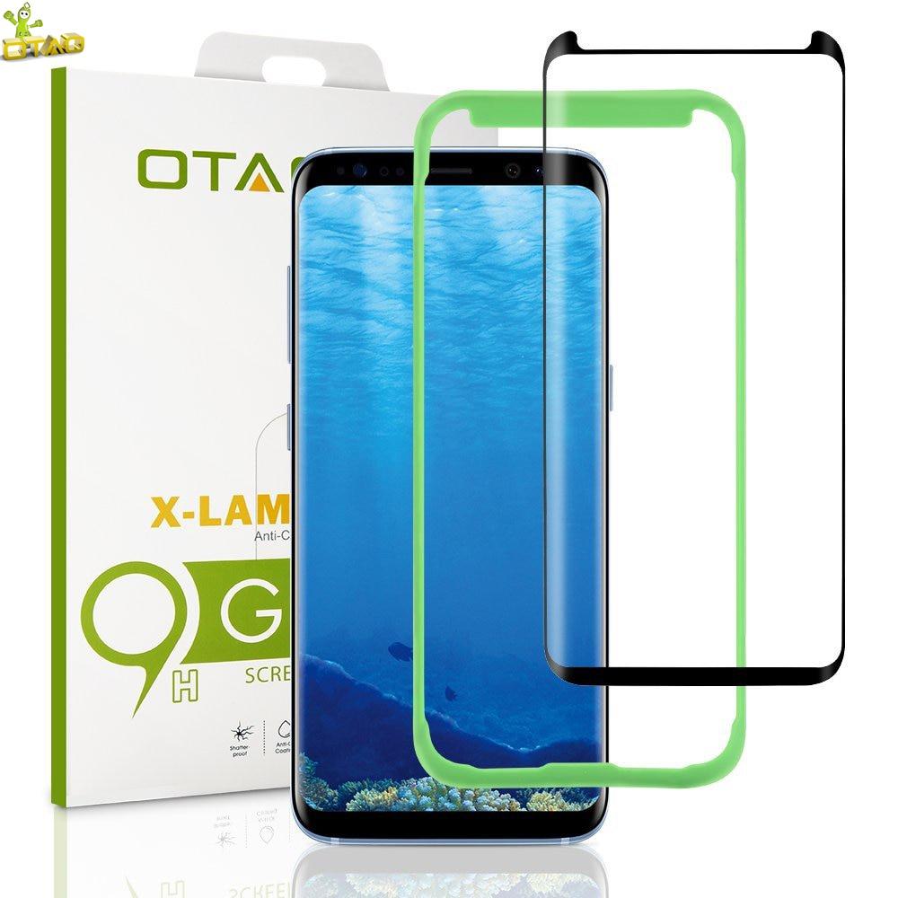bilder für OTAO Fall Freundliche für Samsung Galaxy S8 Plus 3D Gebogene Full Cover Gehärtetes Glas Screen Protector Installation Fach Stellungsregler