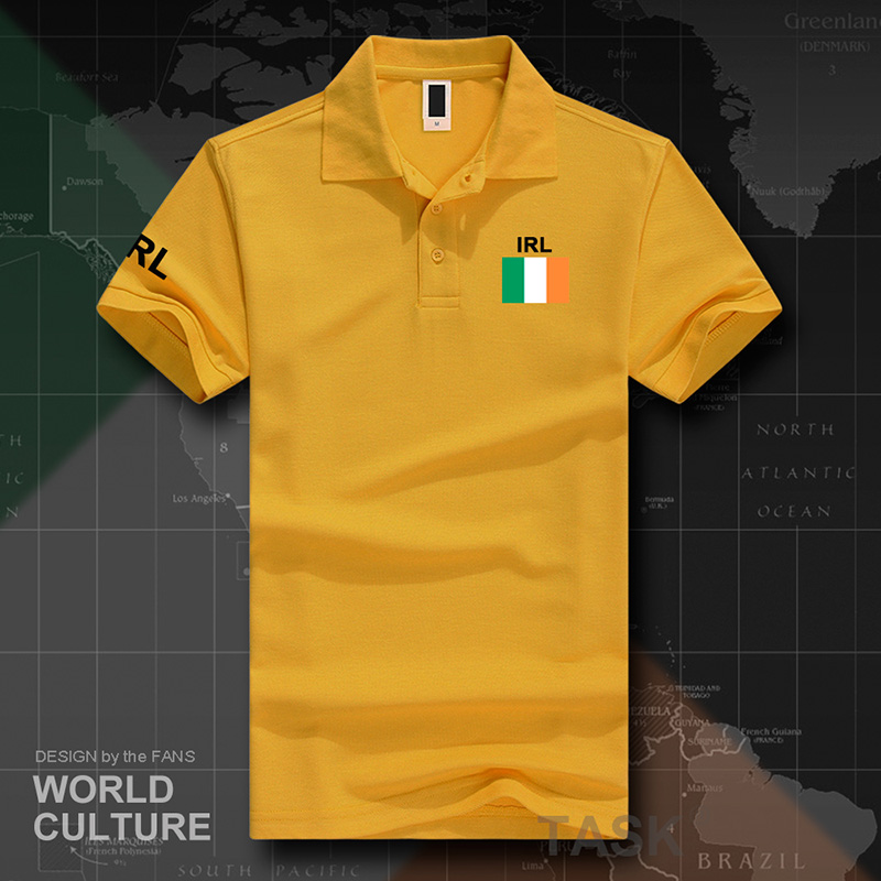 Eire Ireland Polo Shirts Men Short Sleeve White Brands Printed For Country 2017 Cotton Nation Team Flag New Fashion The Irish