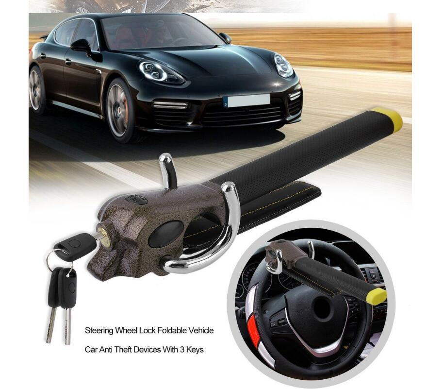 Auto Steering Wheel Foldable Anti Theft Security Airbag Lock Safe Devices /& Key