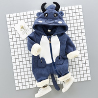 Brand Infants Clothing Spring Autumn Winter New Born Bebe Jumpsuits Cotton With Polar Fleece Cartoon Baby