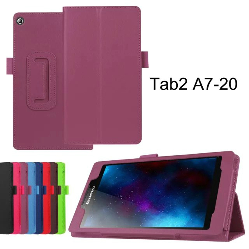 2-Folder Luxury Folio Stand Holder Funda protectora de piel cubierta - Accesorios para tablets - foto 2
