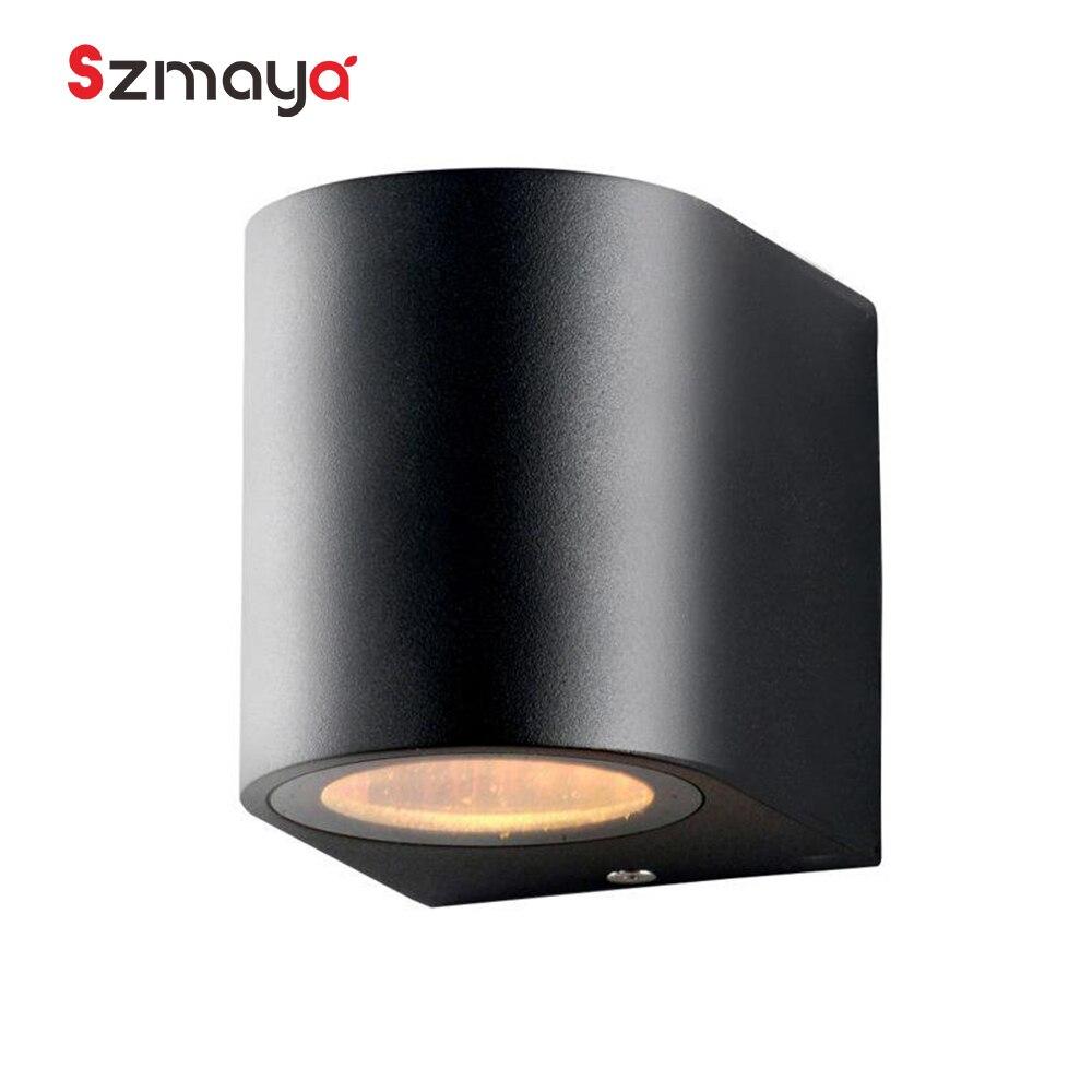 Led gu10 levou modernas luzes de parede, 35 W à prova d' água 100-220 V 3500 k diodo cozinha iluminação de emergência decoração lâmpadas de varanda