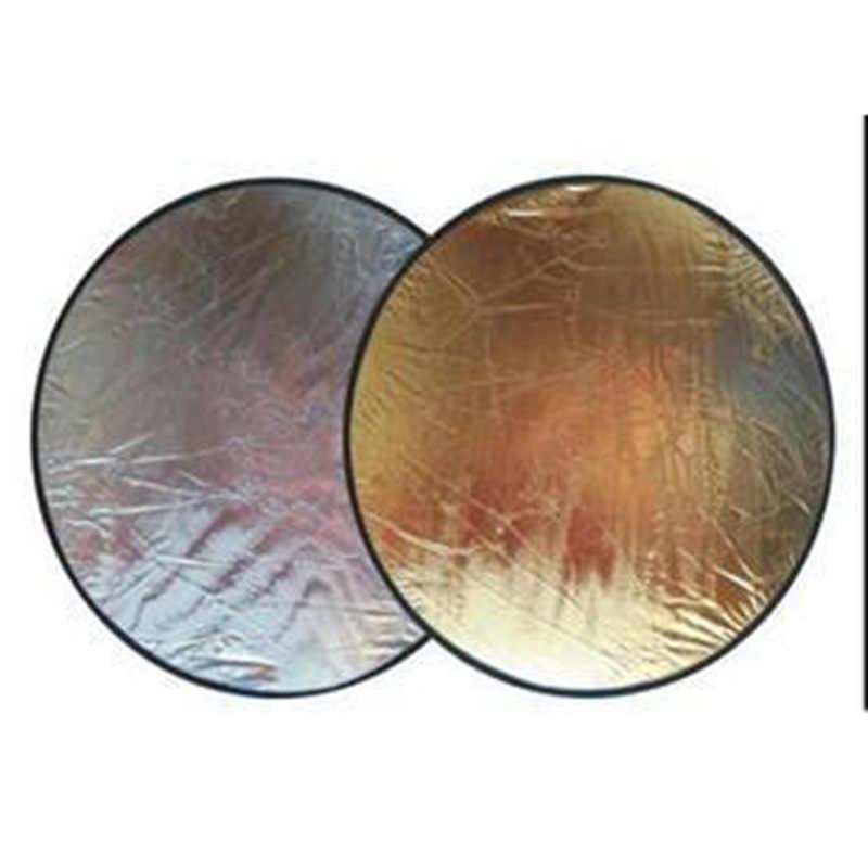Dwustronne reflektory 60cm dwie strony złotego i srebrnego paska odblaskowego przenośna torba akcesoria do studia fotograficznego do canon nikon