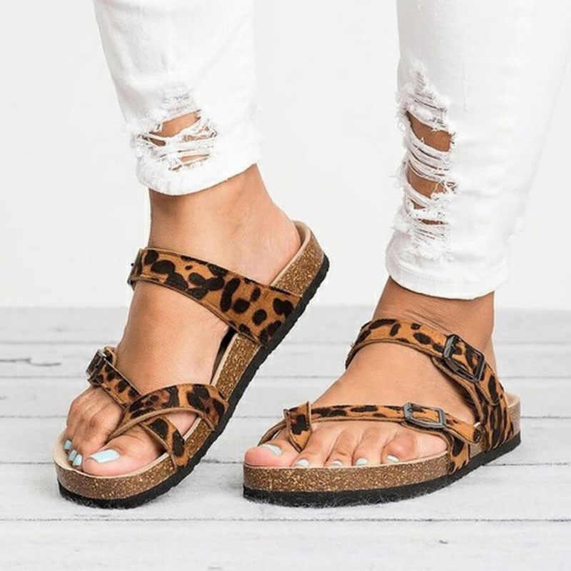 dffb6a95b54fe Womens Sandals Plus Size 35-43 2019 New Flats Sandals For Summer Shoes  Woman Flip