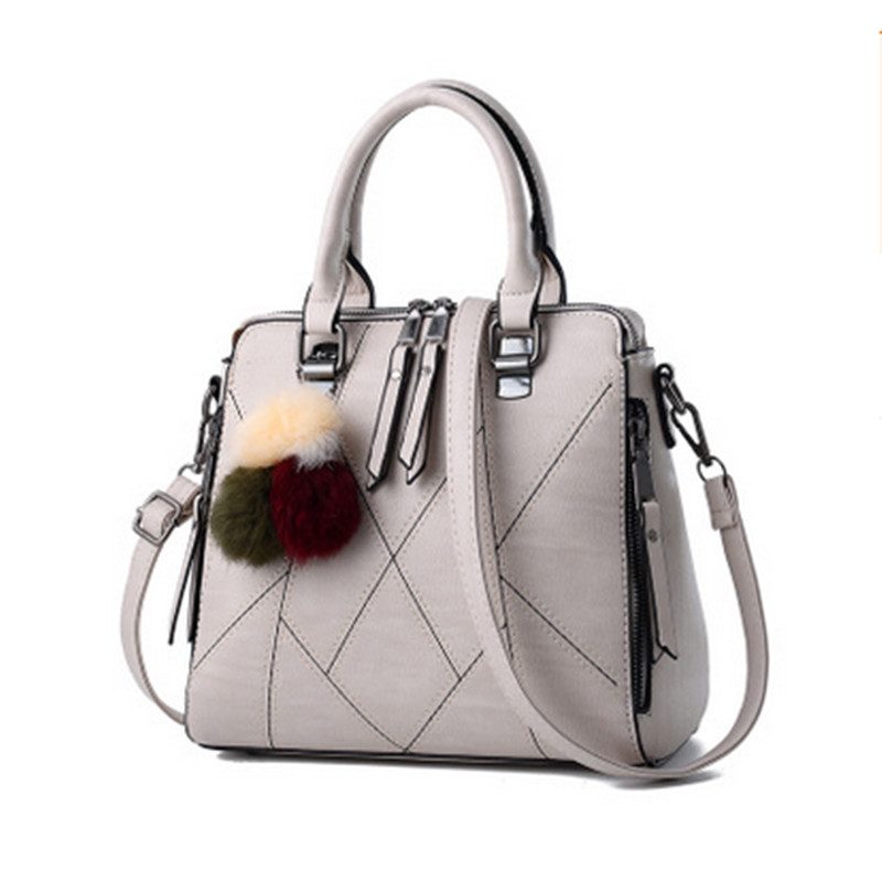 Luxury Handbags Women Bags Designer 2017 Famous Brands Women Shoulder Bag PU Leather Tassel Stitching Ladies Hand Bag bolsa sac