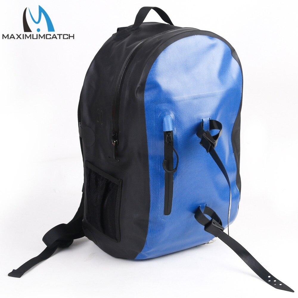 Maximumcatch 100% sac à dos de pêche à sec étanche sac de pêche 25L Ultra-durable 840D avec fermeture éclair imperméable à l'eau YKK avec porte-Tube