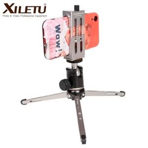 Image 4 - XILETU MT26 + XT15 Hohe Lager Desktop Halterung Mini Tabletop Stativ und Kugelkopf Für DSLR Kamera Spiegellose Kamera Smartphone