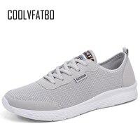 COOLVFATBO/Мужская обувь унисекс, модные удобные кроссовки на шнуровке, сетчатые летние кроссовки на плоской подошве, дышащая повседневная обув...