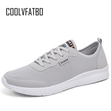 COOLVFATBO Men Unisex Shoes Fashion Comfortable Lace up Sneakers Mesh Flats Summer Breathable Casual Plus Size 50