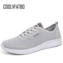 COOLVFATBO Men Unisex Shoes Fashion Comfortable Lace up Sneakers Mesh Flats Summer Sneakers Breathable Casual Shoes Plus Size 50(China)