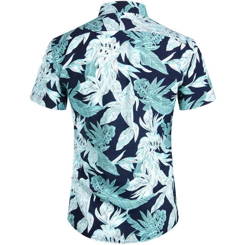Летние Для мужчин s пляжные Гавайские рубашки Повседневное короткий рукав Тропический цветочный гавайи рубашки для отдыха и вечеринок Chemise Homme Для мужчин Костюмы XXL