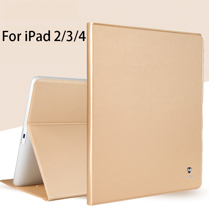 Luxury Silicone PU Leather Case For Apple ipad 2 3 4 Smart Case Cover Funda Tablet Ultra Slim Flip Stand Shell For iPad 3 iPad 4 new luxury ultra slim silk tpu smart case for ipad pro 9 7 soft silicone case pu leather cover stand for ipad air 3 ipad 7 a71