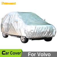 Buildreamen2 For Volvo XC60 XC90 V60 XC70 Full Car Cover Waterproof Sun Shade Rain Hail Snow