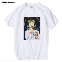 Virgin Mary Mia Wallace T Shirt Men Pulp Fiction Classic Movie Poster T Shirt Male Quentin