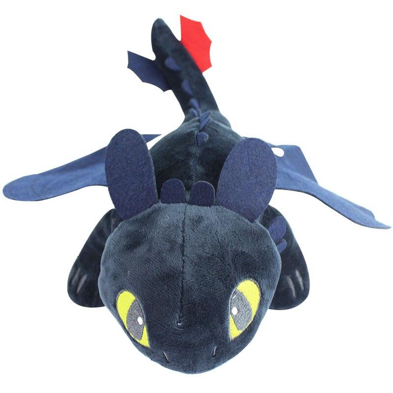 23cm Dragon 3 Night Fury Plush Toy How to Train Your