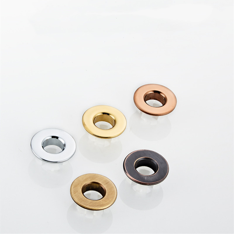 LIUYUE Bathroom Black/Gold Sink Round Hole Overflow Cover Basin Ceramic Pots Overflow Covers Kitchen Sink Bathroom Accessories