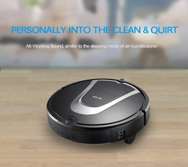 Intelligent A6Robot Vacuum Cleaner Household Cleaner Rechargeable Robot Vacuum Cleaner Remote Controlled Robot Aspirator