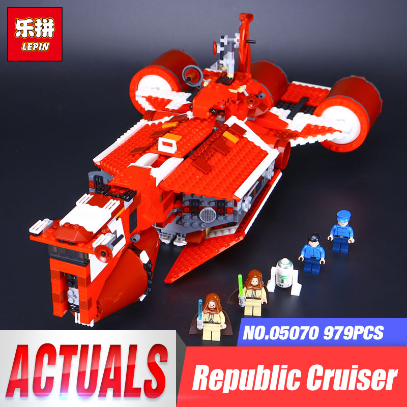 Lepin 05070 Star Series War The Republic funny Gifts Cruiser Set Toys For Children Educational Building Blocks Bricks Model 7665 wange louvre of paris building blocks set model small architecture series 2017 classic educational toys for children gifts