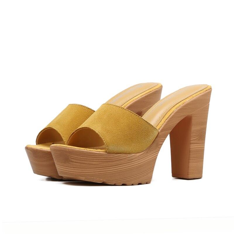 d91e0455c65 Womens Sandal Platforms Shoes 12cm High Heel Flip Flops Platform Clogs  Shoes Fashion Summer Slippers Women Sandale Femme-in High Heels from Shoes  on ...