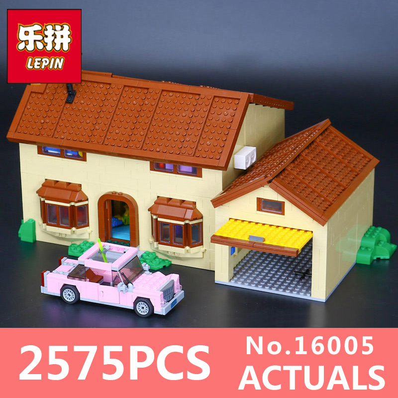 2575Pcs Lepin 16005 Simpsons family Kwik-E-Mart Set Building Blocks Bricks Educational Toys 71006 Funny Children DIY Gift